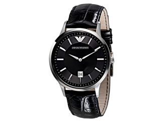 ab1077d8b0d6 Reloj para caballero Emporio Armani Renato AR2411 negro